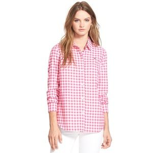 Vineyard Vines Pink Gingham Checkered Button Down